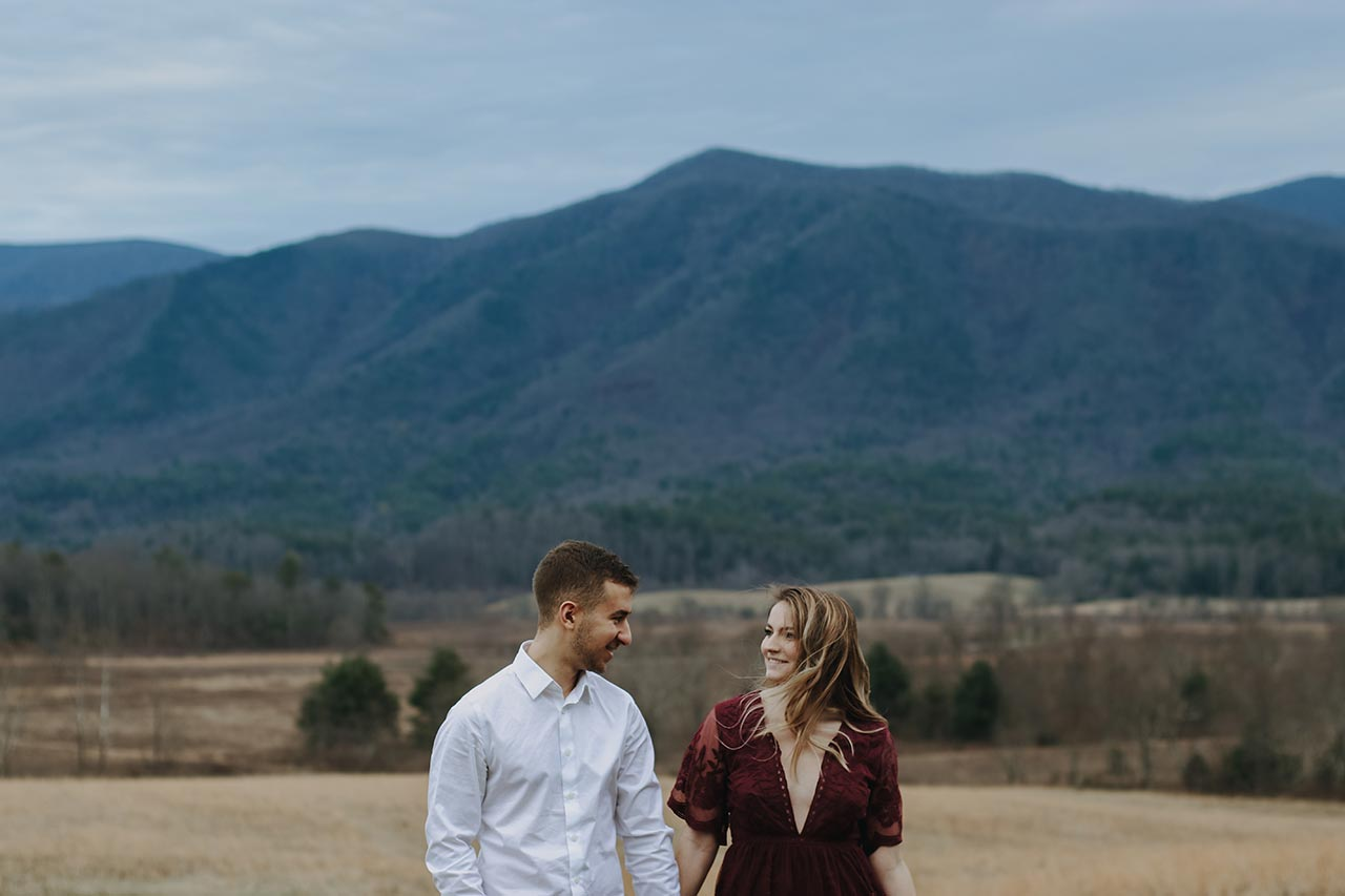 Cades Cove Engagement Photography Gatlinburg Photographer Pigeon Forge Couple Photographers Great Smoky Mountains National Park Pictures